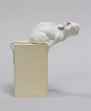 Mouse on Block Sculpture